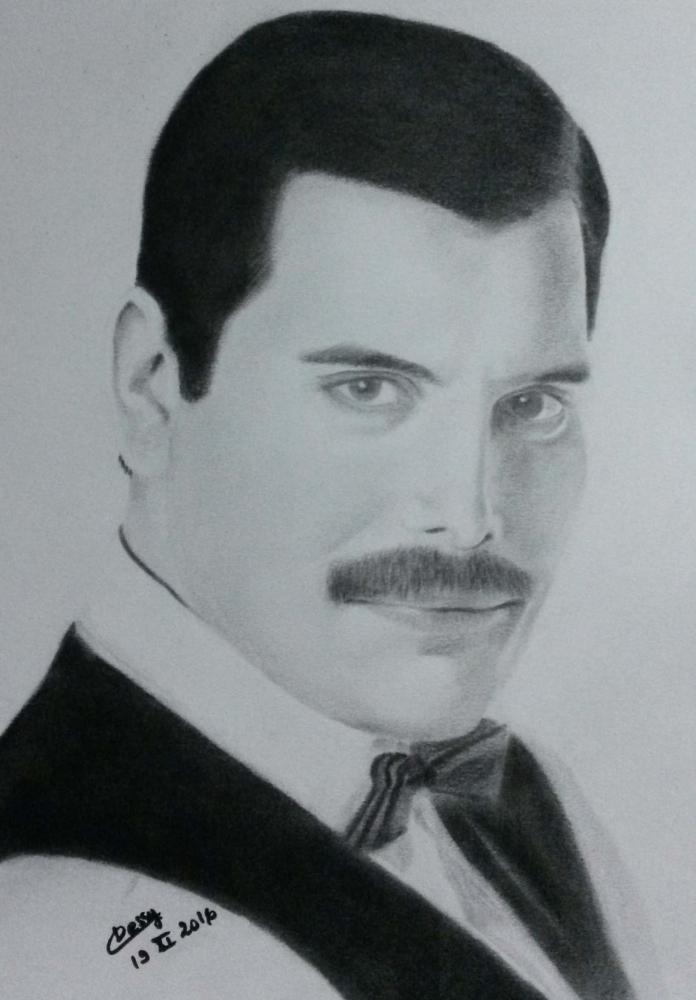 Freddie Mercury por Cessydu31